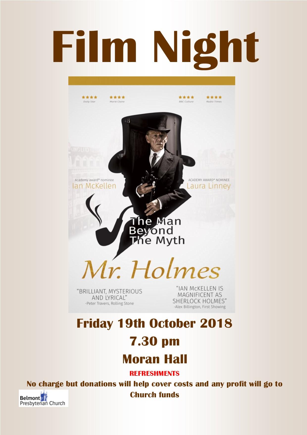 film club Mr Holmes Oct 2018